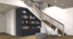 STAIRS REMODEL, LIBRARY
