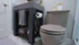 Eclectic Guest Bath - Ridgecrest Designs