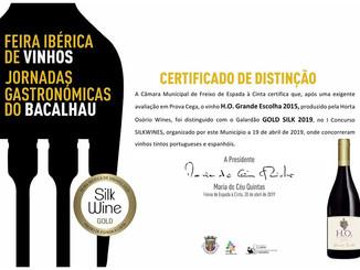 Já saíram os Certificados do 1º Concurso Silk Wines 2019 promovido pela Câmara Municipal de Freixo d