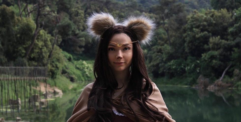 Furry Bear Ears, Fluffy Animal Ear Headband
