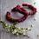 Thumbnail: Recycled Indian Silk Sari Hoops
