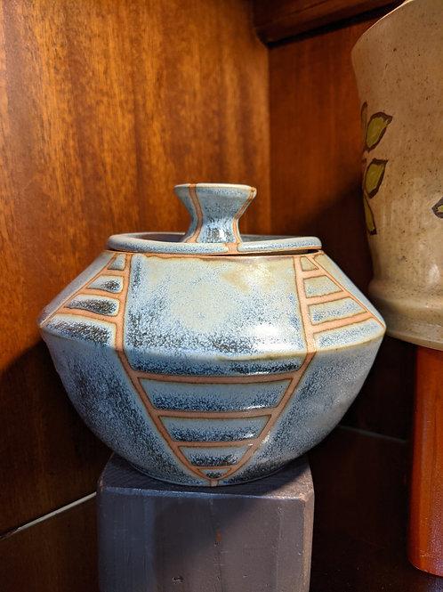 Blue Jar w/Lid