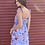 Thumbnail: Blue Floral Sleeveless Dress