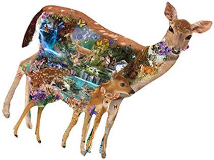 Mystical Forest Deer Shaped Puzzle