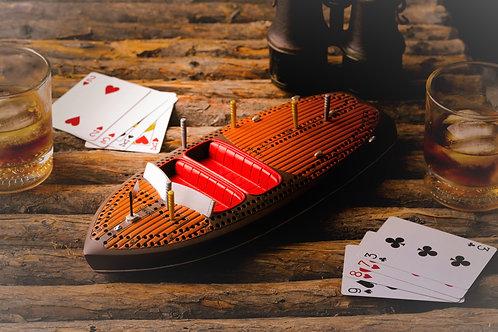 Classic Boat Cribbage Board