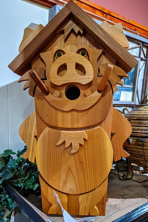 Pig Bird House