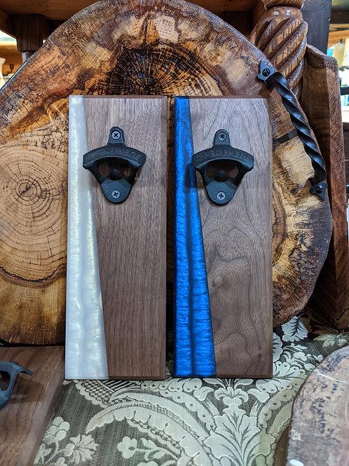 Wood and Acrylic Bottle Opener