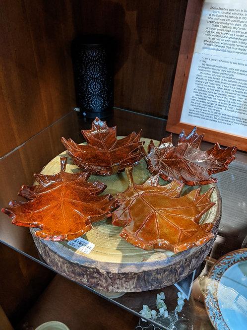Tree Platter w/Leaf Saucers