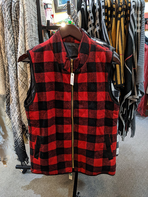 Red Buffalo Check Vest