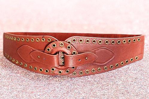 Lt. Brown Grommet Belt