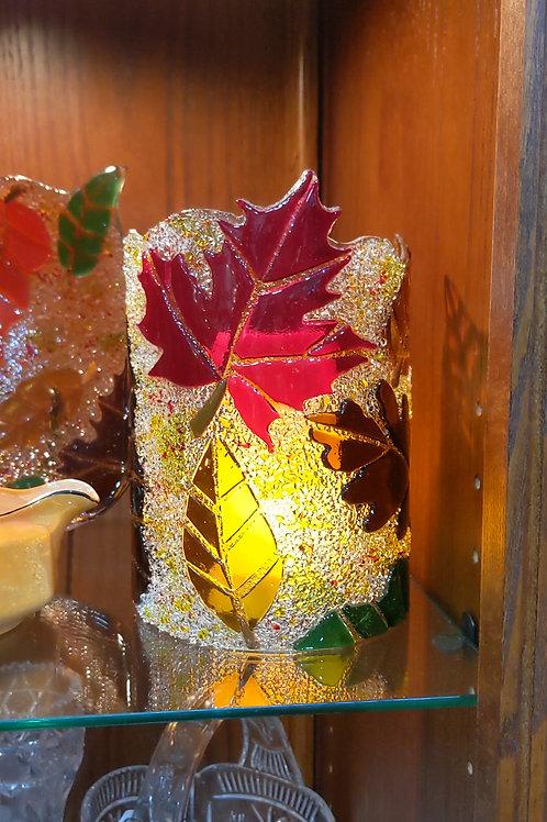 Fall Leaf Candle Shield
