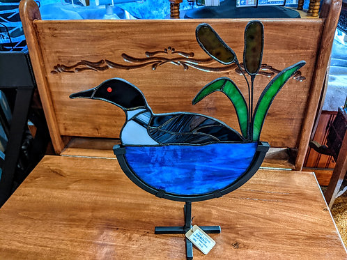 Stained Glass Loon