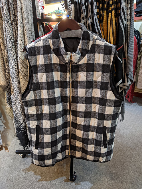 White Buffalo Check Vest