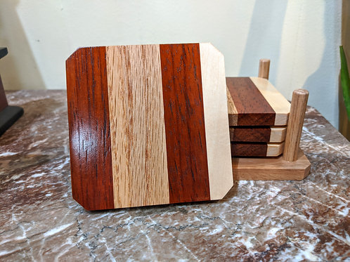 Wood Coaster Set