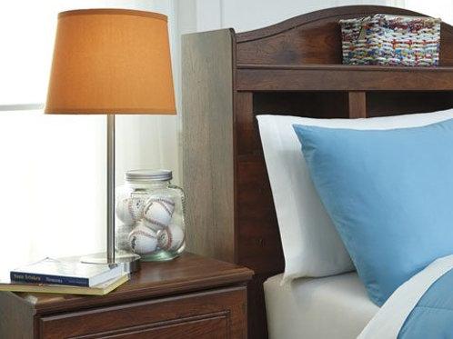 Metal and Orange Table Lamp