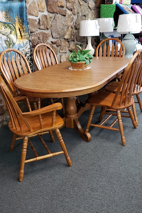 Chrome Craft Oval table and Chairs