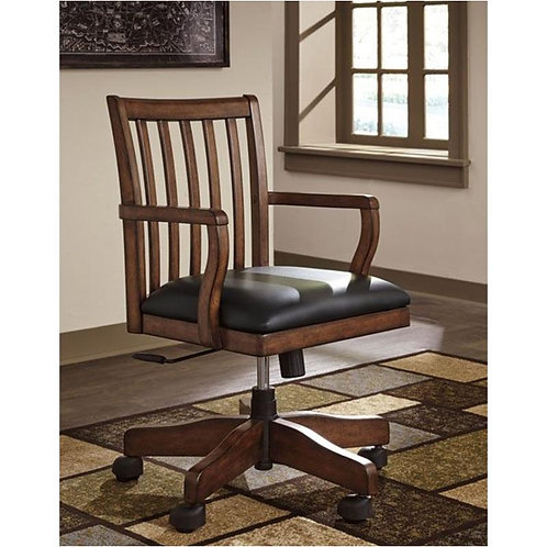 Woodboro Brown Swivel Desk Chair