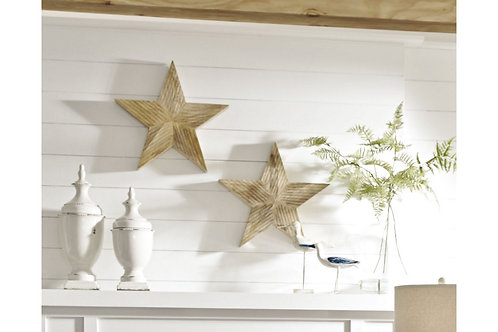 Wooden Wall Star