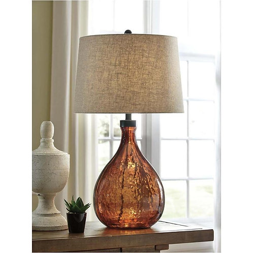 Chocolate colored Glass Lamp