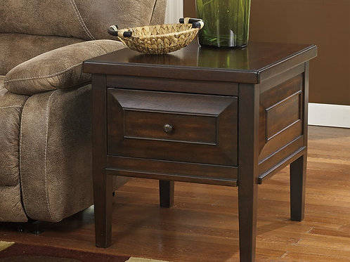 Square End Table with Drawer