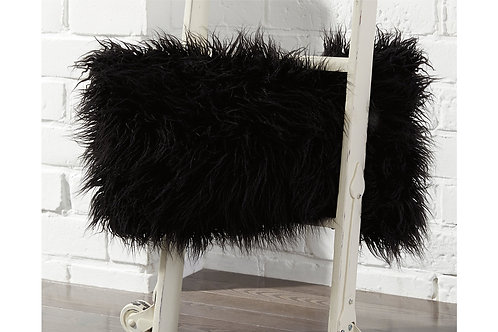 "Roxanne Black ""Fur"" Pillow"