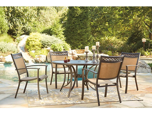 Carmadelia Round Dining Table and four chairs