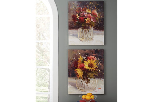 Rosalinda Flower Painting 2 piece set
