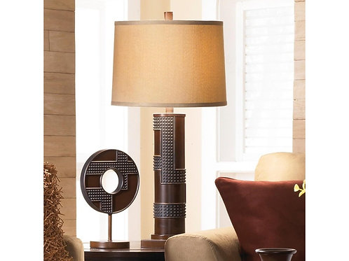 Table Lamp with Wood and Metal apperance