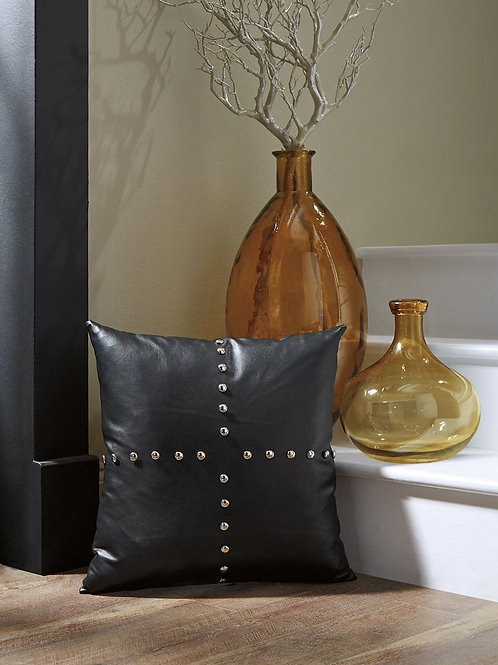 Onyx Faux Leather Pillow