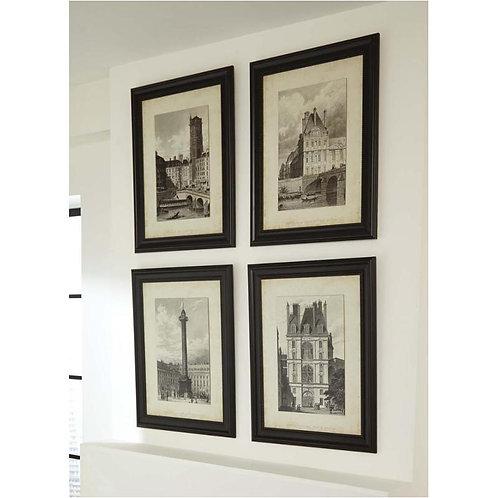 Black/White Dolph Wall Art Set 4 pieces
