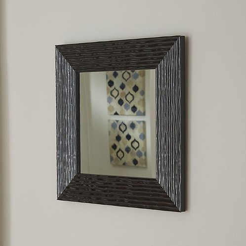 Black Textured Accent Mirror
