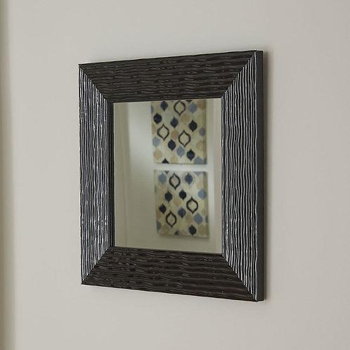 Black Textured Accent Mirror