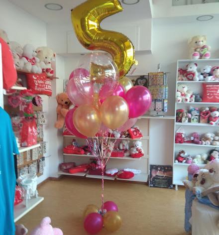 μπαλόνια περλέ με Αριθμό