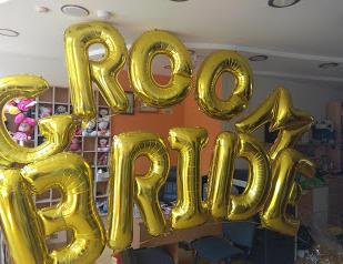 Μεγάλα μπαλόνια γράμματα GROOM-BRIDE