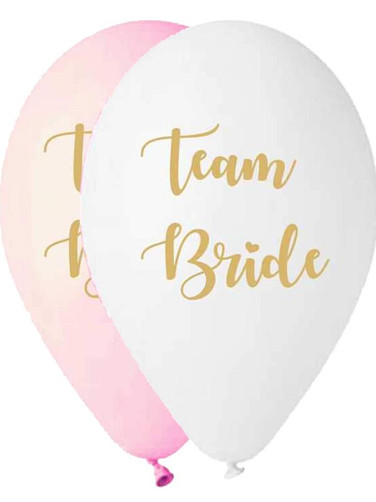 Team Bride' in white and baby pink color
