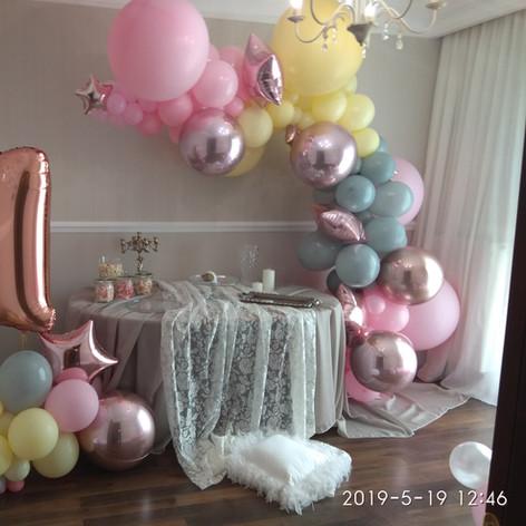 Ασύμμετρη γιρλάντα μπαλονιών