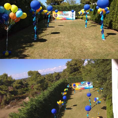 Διακόσμηση Εξωτερικού Χώρου με μεγάλα μπαλόνια