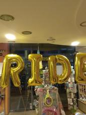 Μπαλόνια Φράση BRIDE Χρυσό