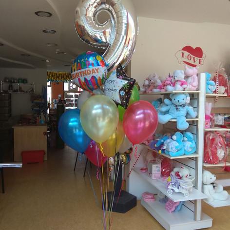 μπαλόνια τούφα  με Αριθμό