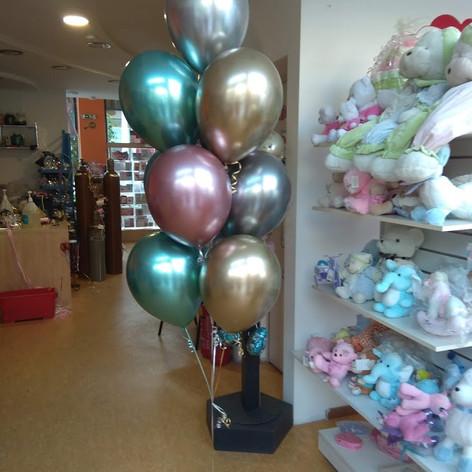 Μπουκέτο με chrome balloons