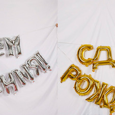 16inch Gold Silver Russian Happy Birthda