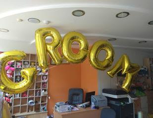 Μεγάλα μπαλόνια γράμματα GROOM