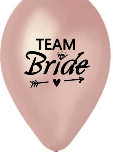 Team Bride' in rosegold color