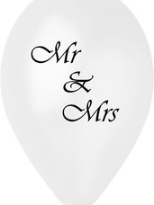 MR & MRS Άσπρο Περλέ Τυπωμένο