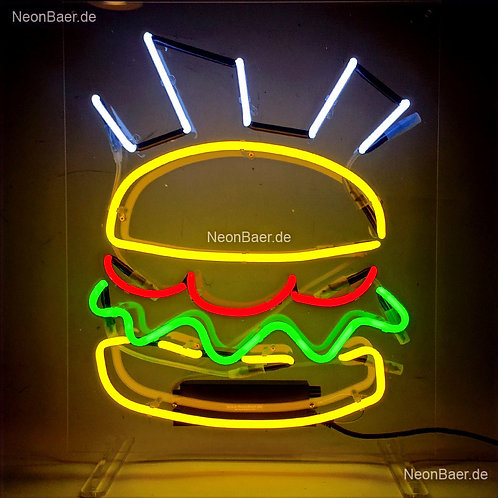 Hot Burger Neonsign Neonglas Leuchtreklame