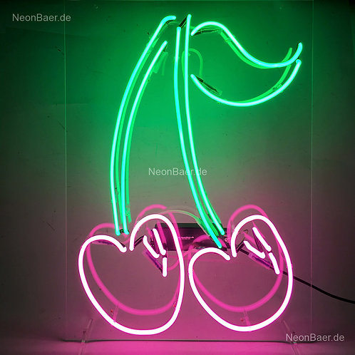 Kirschen Neonsign Neonreklame