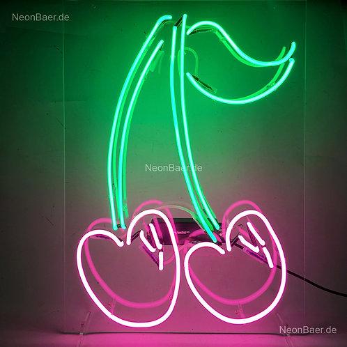Kirschen Neonsign Neonglas Neonreklame