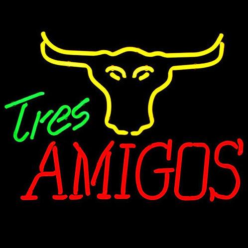 Tres Amigos Steakhaus Neonreklame