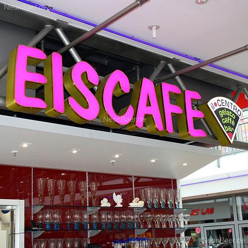 Eiscafe Il Centro LED-Leuchtbuchstaben