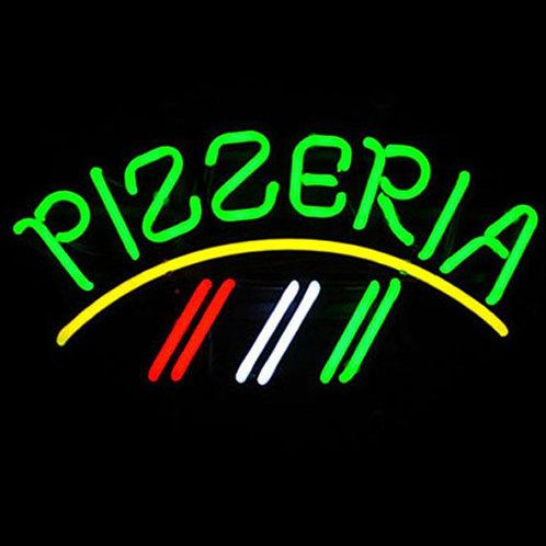 Pizzeria Ital-Fahne Neonwerbung